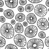 Monochrome organic rounds. Handdrawn abstract background with cells. Vector seamless pattern. Monochrome organic rounds. Stylish structure of natural cells stock illustration