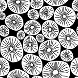 Monochrome organic rounds. Stylish structure of natural cells. Hand drawn abstract background. Vector seamless pattern. Monochrome organic rounds. Stylish vector illustration