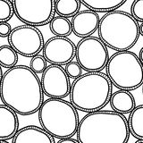 Monochrome organic rounds. Stylish structure of natural cells. Hand drawn abstract background. Vector seamless pattern. Monochrome organic rounds. Stylish Stock Illustration
