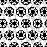Monochrome ornament seamless pattern Royalty Free Stock Image
