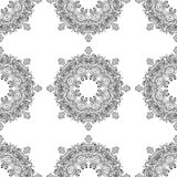Monochrome ornament seamless pattern Royalty Free Stock Photos