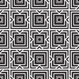 Monochrome  ornament squares Stock Images