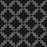Monochrome ornamental seamless pattern. Vector mosaic texture. Monochrome ornamental seamless pattern. Vector abstract geometric texture in oriental arabiс Royalty Free Stock Image