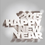 2015: Monochrome Paper Folding with Letter, Happy New Year Royalty Free Stock Photo