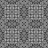 Monochrome pattern_5. Vector seamless pattern. Perfect for wallpaper or textile design patterns Royalty Free Stock Images