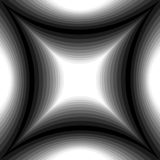 Monochrome Pattern of Concave Rectangle Gently Shimmering from  light to dark. Visual Volume Effect.  Polygonal Geometric Abstract Stock Image