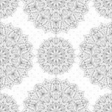 Monochrome Pattern Of Mandala Stock Photography