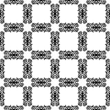 Monochrome Pattern With Ornament Stock Photography