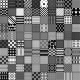 100 monochrome pattern. Vector pattern. Royalty Free Stock Photography