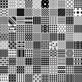 100 monochrome pattern. Royalty Free Stock Image