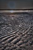 Monochrome of patterns in the sand flats at Honeymoon Bay Kalumburu royalty free stock image