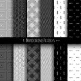 Monochrome Patterns Set Royalty Free Stock Images