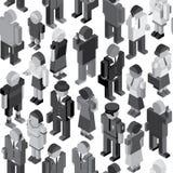 Monochrome People Seamless Pattern Royalty Free Stock Photos