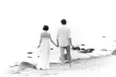 Monochrome photo of Couple in love Stock Photo