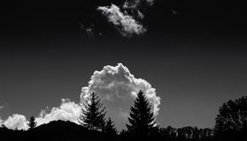 Monochrome Photography of Clouds Stock Photography