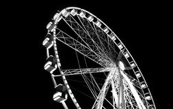 Monochrome Photography of Ferris Wheel stock image