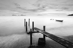 Monochrome pier Stock Photography