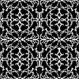Monochrome pixels are small polygons seamless pattern Stock Image