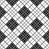 Monochrome plaid fabric background. Abstract seamless vector pattern. Royalty Free Stock Images