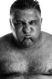 Monochrome portrait of an expressive man Stock Image