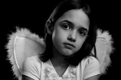 Monochrome portrait of Little Angel Royalty Free Stock Photo