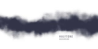 Monochrome printing raster, abstract vector halftone background. Black and white texture of dots. Monochrome printing raster. Abstract vector halftone royalty free illustration