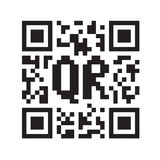 Monochrome QR code Stock Photography