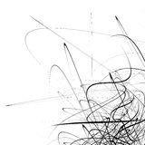 Monochrome random chaotic squiggle lines abstract artistic patte Royalty Free Stock Photography