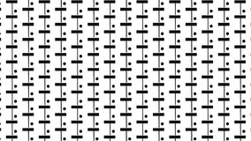Monochrome rectangle and dot pattern Stock Photography