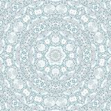 Monochrome relief mandala tile kaleidoscope royalty free illustration
