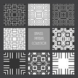 Monochrome repeated square collection Royalty Free Stock Photos