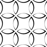 Monochrome repetitive pattern with petal / flower / leaf shapes. Simple texture for nature related concepts or as generic decorative background - Royalty free stock illustration