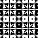 Monochrome Retro Pattern. Pattern inspired by sixties and seventies fashion Stock Photos