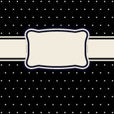 Monochrome retro vector background. Royalty Free Stock Images