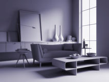 Monochrome room Royalty Free Stock Image