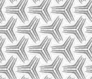 Monochrome rough striped small tetrapods Royalty Free Stock Images