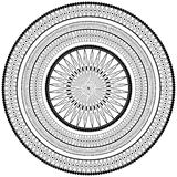 Monochrome round ornament. Decor vector element, black and white illustration, mandala. Monochrome mandala - decor vector element stock illustration