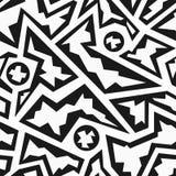 Monochrome rubble geometric seamless pattern Royalty Free Stock Photos