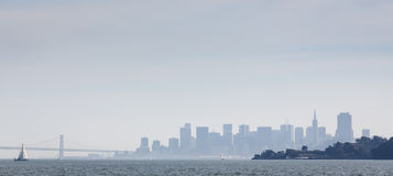 Monochrome San Francisco Skyline Royalty Free Stock Photography