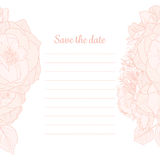 Monochrome Save the Date Invitation Royalty Free Stock Photo