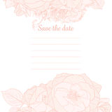 Monochrome Save The Date Template Royalty Free Stock Photography