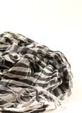 Monochrome scarf Stock Images
