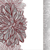 Monochrome seamless background with flowers. Vector illustration Stock Image
