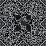 Monochrome Seamless Background Pattern Royalty Free Stock Image