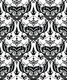Monochrome seamless damask pattern Stock Image