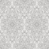 Monochrome seamless floral pattern. Royalty Free Stock Photo