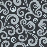 Monochrome seamless floral wallpaper pattern. Monochrome  seamless floral wallpaper pattern. Seamless wrapping paper, textile or upholstery print Royalty Free Stock Photos