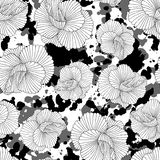 Monochrome seamless hand drawn pattern Royalty Free Stock Photography
