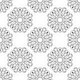 Monochrome Seamless Of Mandala Royalty Free Stock Photos