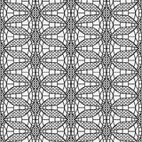 Monochrome seamless mesh lace on a white background. Stock Photography